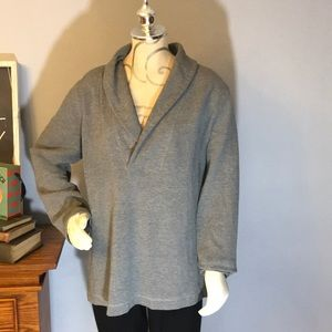 Merona deep plunge neck gray sweater size xxl